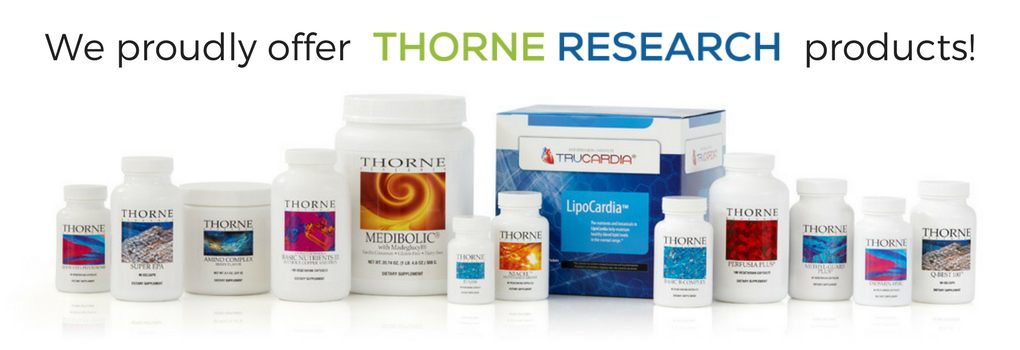 We proudly offer Thorne Research products.